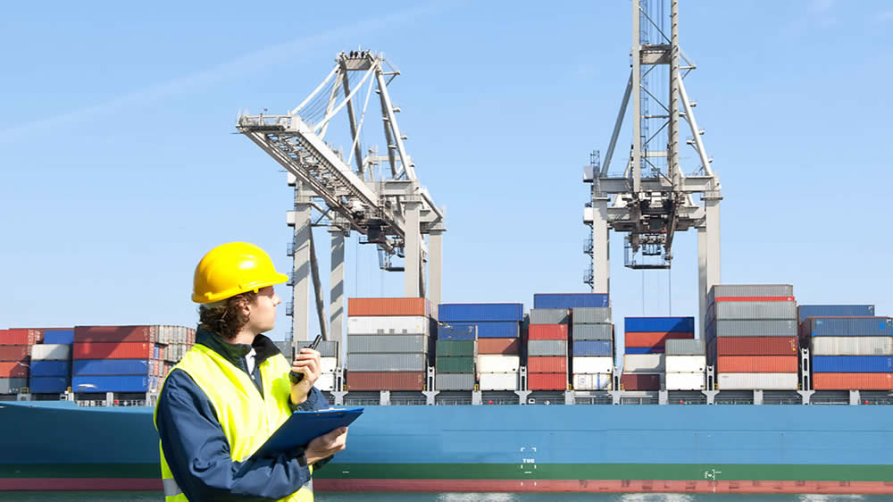 Puerto, importaciones y exportaciones