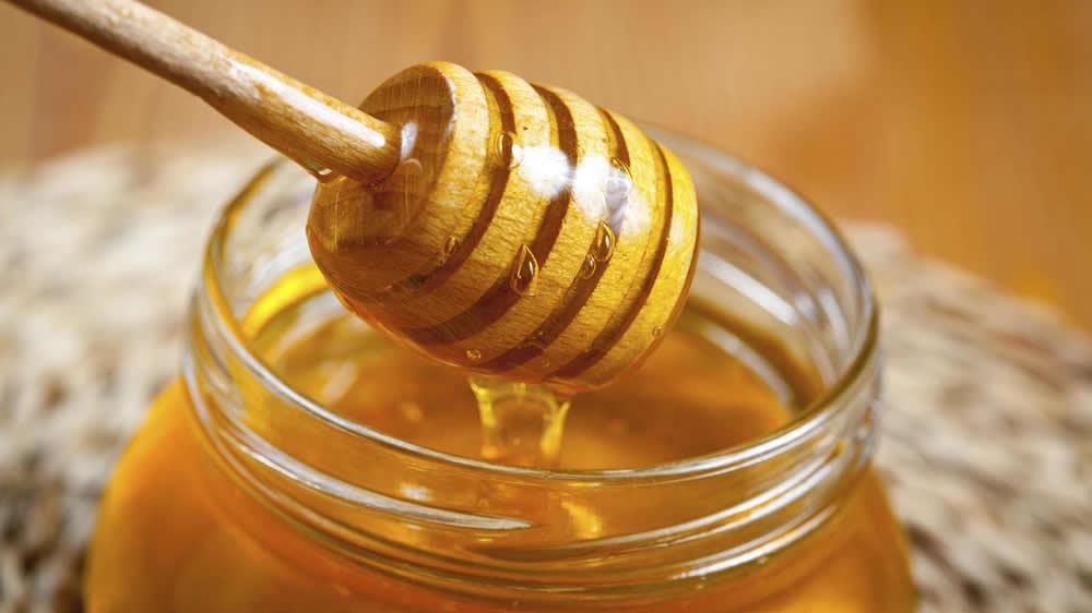 Miel de abejas en frasco