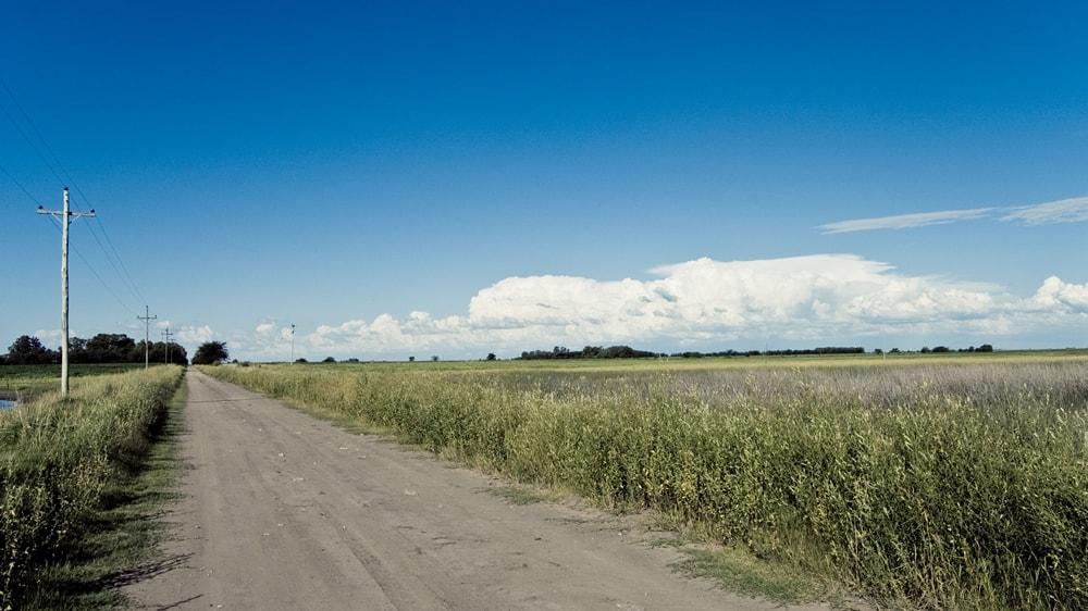 Calle de campo argentino