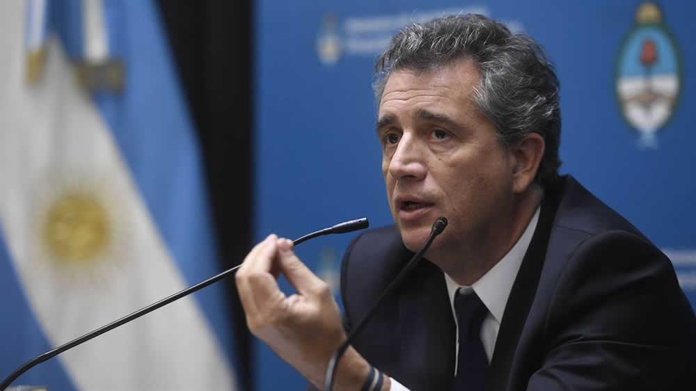 Luis Etchevehere en conferencia de prensa