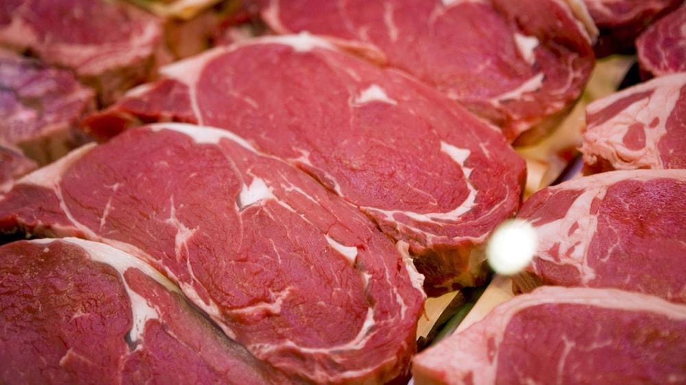 Carne de vaca cortada