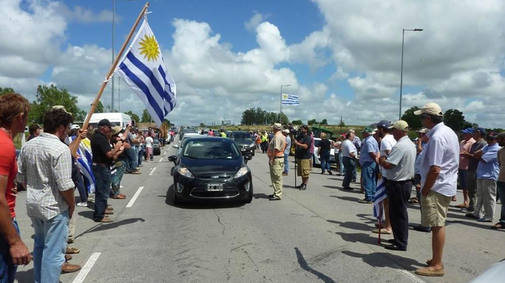 Protesta de agricultores en Uruaguay