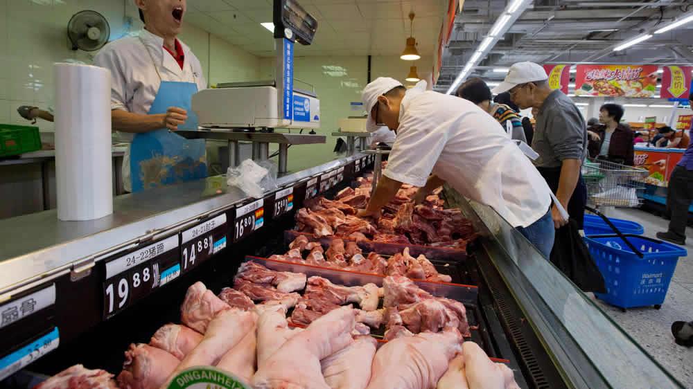 Venta de carne bovina en China