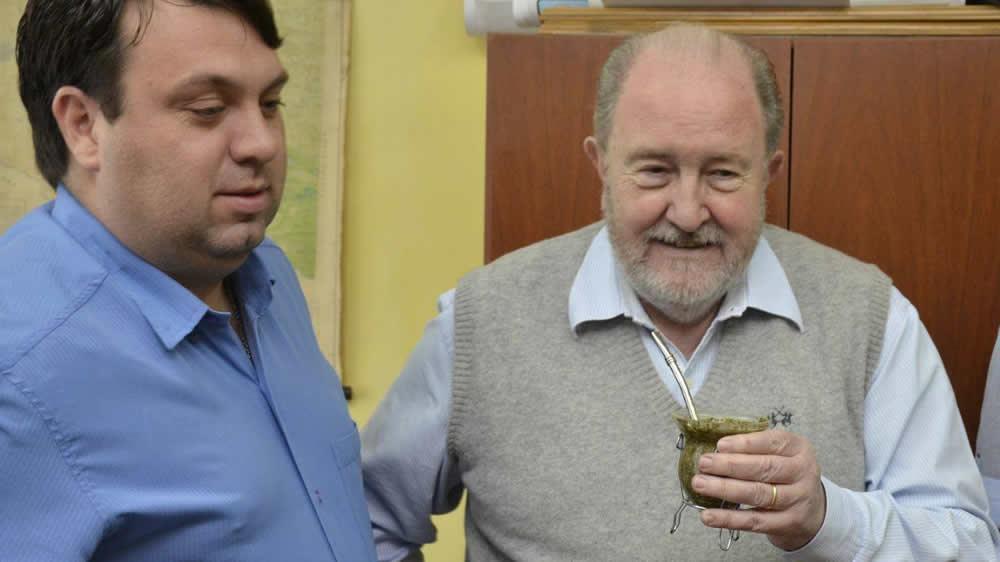 Carlos Verna en inauguración de planta de chacinados